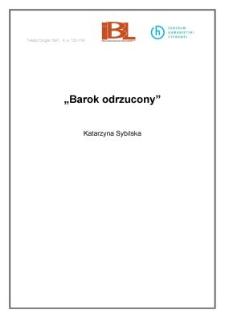 """"""" Barok odrzucony"""""""