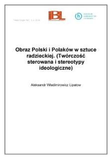 Obraz Polski i Polaków w sztuce radzieckiej