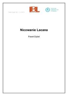Nicowanie Lacana