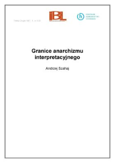 Granice anarchizmu interpretacyjnego