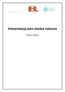 Interpretacja jako wiedza radosna