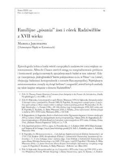 """Familijne """"pisania"""" żon i córek Radziwiłłów z XVII wieku"""