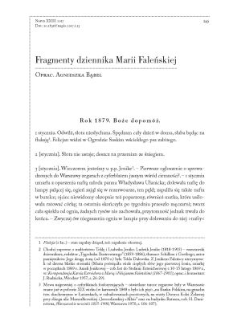 Fragmenty dziennika Marii Faleńskiej