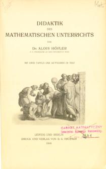 Didaktik des mathematischen Unterrichts