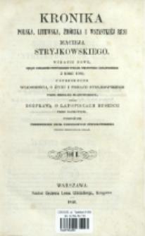 Kronika polska, litewska, żmódzka i wszystkiéj Rusi Macieja Stryjkowskiego. T. 2