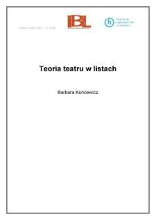 Teoria teatru w listach