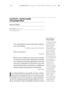 Jean Rouch – l'enfant terrible antropologii i filmu
