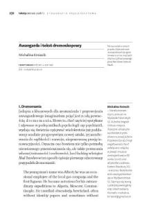 Awangarda i tekst dromoskopowy