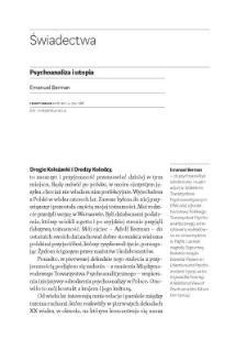 Psychoanaliza i utopia