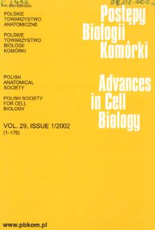 Postępy biologii komórki, Tom 29 nr 1, 2002
