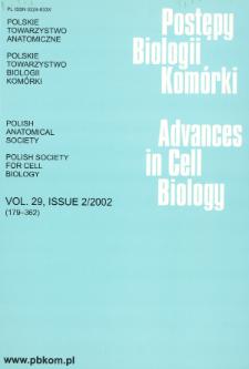 Postępy biologii komórki, Tom 29 nr 2, 2002
