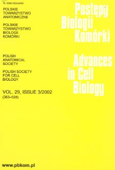 Postępy biologii komórki, Tom 29 nr 3, 2002