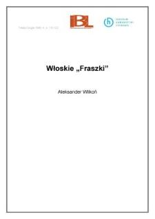 """Włoskie """" Fraszki """""""