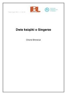 Dwie książki o Singerze
