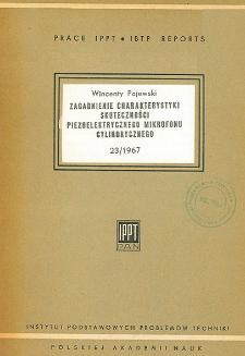 Zagadnienie charakterystyki skuteczności piezoelektrycznego mikrofonu cylindrycznego