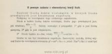 O pewnym zadaniu z elementarnej teorji liczb