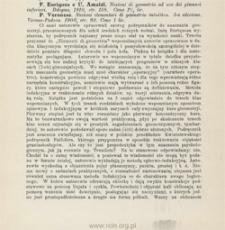 F. Enriques e U. Amaldi: Nozioni di geometria ad uso dei ginnasi inferiori