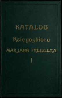 Katalog księgozbioru Marjana Freislera