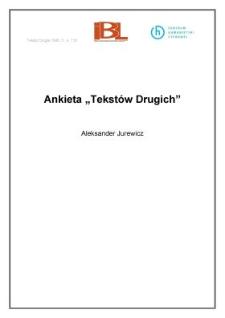 """Ankieta """"Tekstów Drugich"""""""