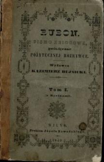 Rubon : pismo poświęcone pożytecznej rozrywce