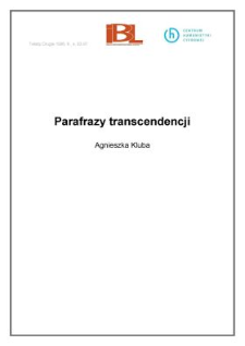 Parafrazy transcendencji