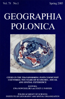 Geographia Polonica Vol. 78 No. 1 (2005)