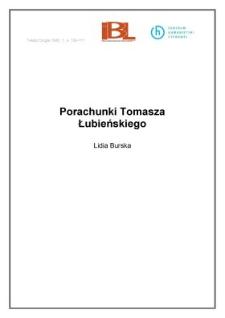 Porachunki Tomasza Łubieńskiego