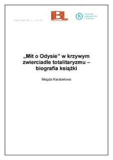 """""""Mit o Odysie"""" w krzywym zwierciadle totalitaryzmu - biografia książki"""