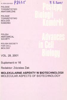 Postępy biologii komórki, Tom 28 supl. 16, 2001