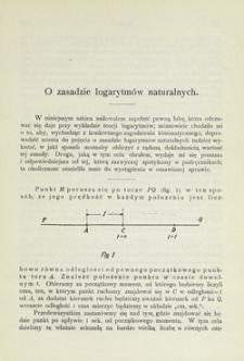O zasadzie logarytmów naturalnych