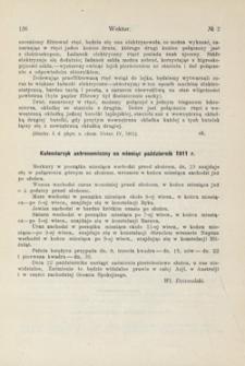 Kalendarzyk astronomiczny na miesiąc październik 1911 r.