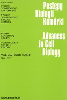 Postępy biologii komórki, Tom 30 nr 4, 2003