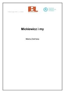 Mickiewicz i my