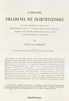 O sposobie układania się elektryczności na dwu odosobnionych przewodnikach kulistych