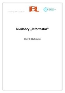 Niedobry Informator
