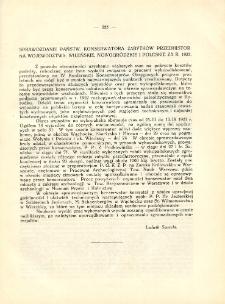 Sprawozdanie Państw. Konserwatora Zabytków Przedhistorycznych na województwa: wileńskie, nowogródzkie i poleskie za r. 1923