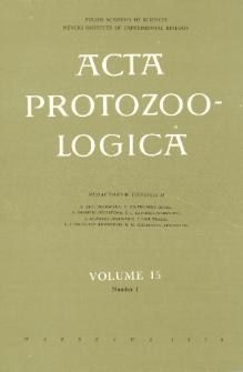 Acta Protozoologica, Vol. 15, Nr 1