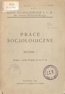 Prace Socjologiczne, R. 1