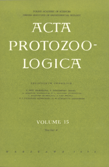 Acta Protozoologica, Vol. 15, Nr 4