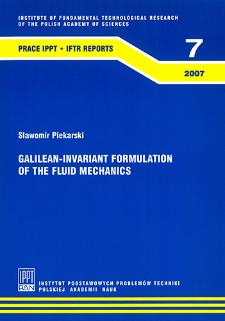 Galilean-invariant formulation of the fluid mechanics