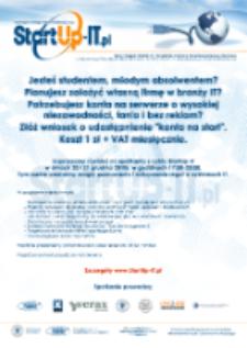 Plakat StartUp-IT PCSS