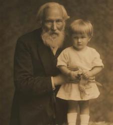Benedykt Dybowski z wnuczką