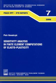 Sensitivity analysis in finite element computations of elasto-plasticity