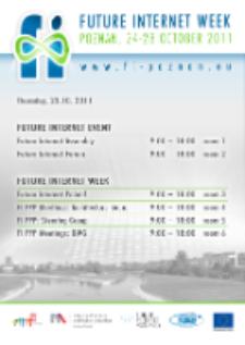 Poster FUTURE INTERNET WEEK 24-28 OCTOBER 2011