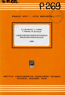 Laboratoryjne wzorce do walidacji programów odlewniczych