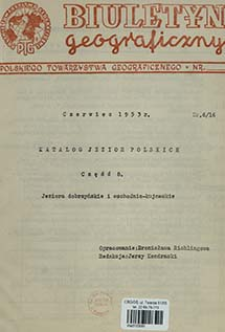 Katalog jezior polskich. Cz. 8, Jeziora dobrzyńskie i wschodnio-kujawskie