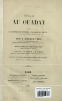 Voyage au Ouadây par Mohammed ibn-Omar el-Tounsy
