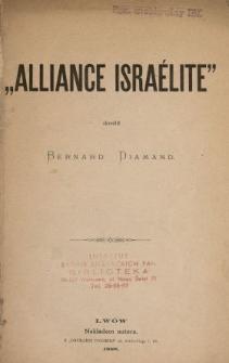 """""""Alliance Israélite"""""""
