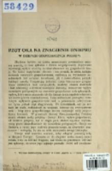Rzut oka na znaczenie Dniepru w dziejach gospodarczych Polski