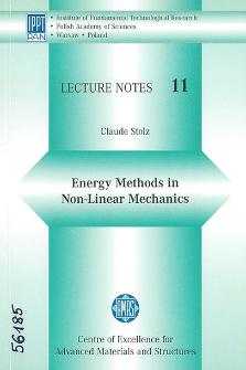 Energy methods in non-linear mechanics
